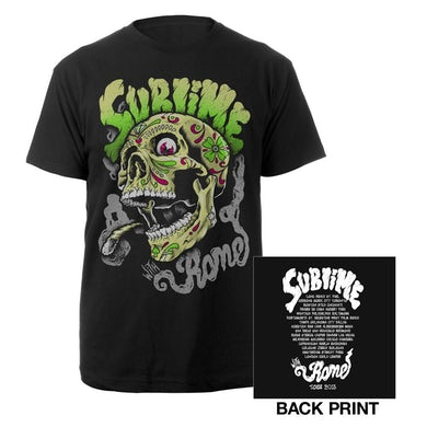 Sublime with Rome Smoking Skull Tour Shirt