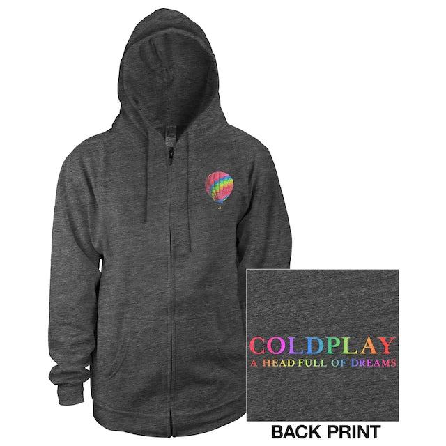 Coldplay Balloon Full-Zip Unisex Hooded Sweatshirt*