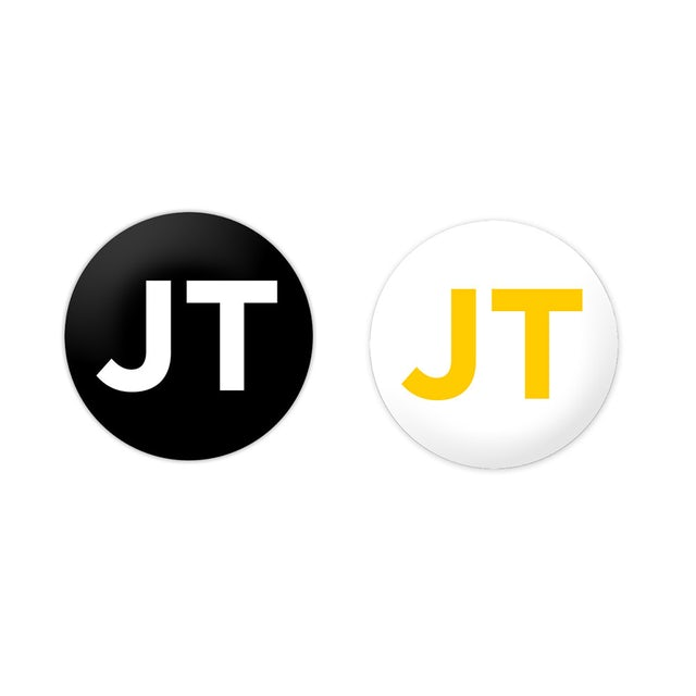 Justin Timberlake JT Initial Button Set