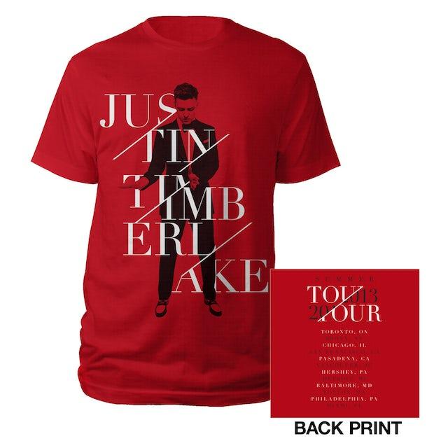 Justin Timberlake Summer 2013 Red Tour Tee