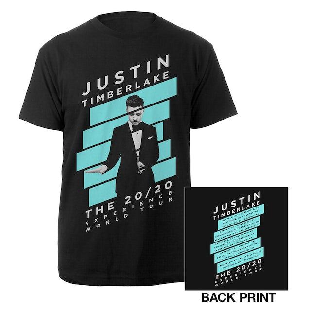 Justin Timberlake Blue Striped 20/20 Experience Tour Tee