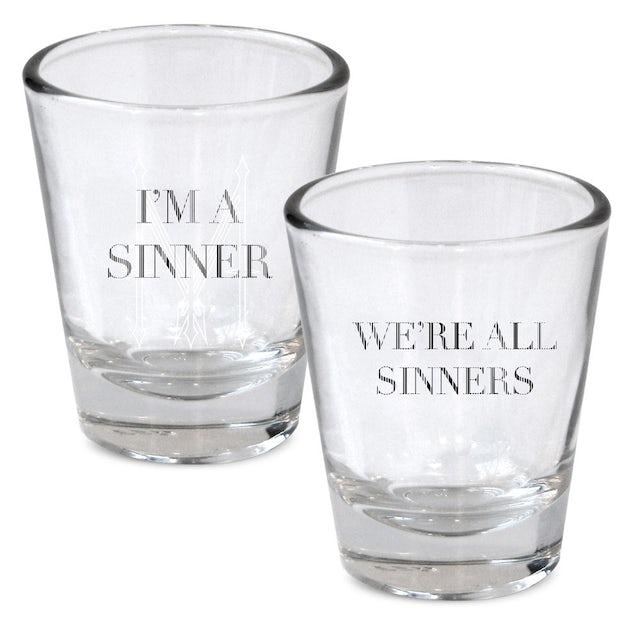 Madonna I'm a Sinner Shot Glass