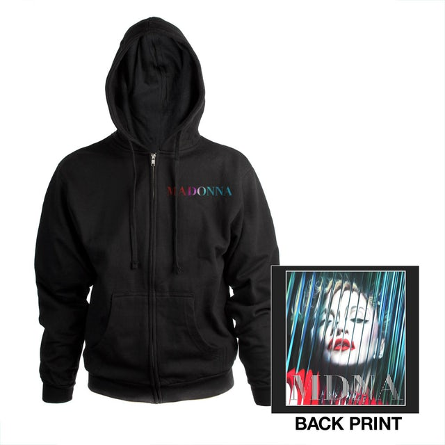Madonna Art Zip Hoodie