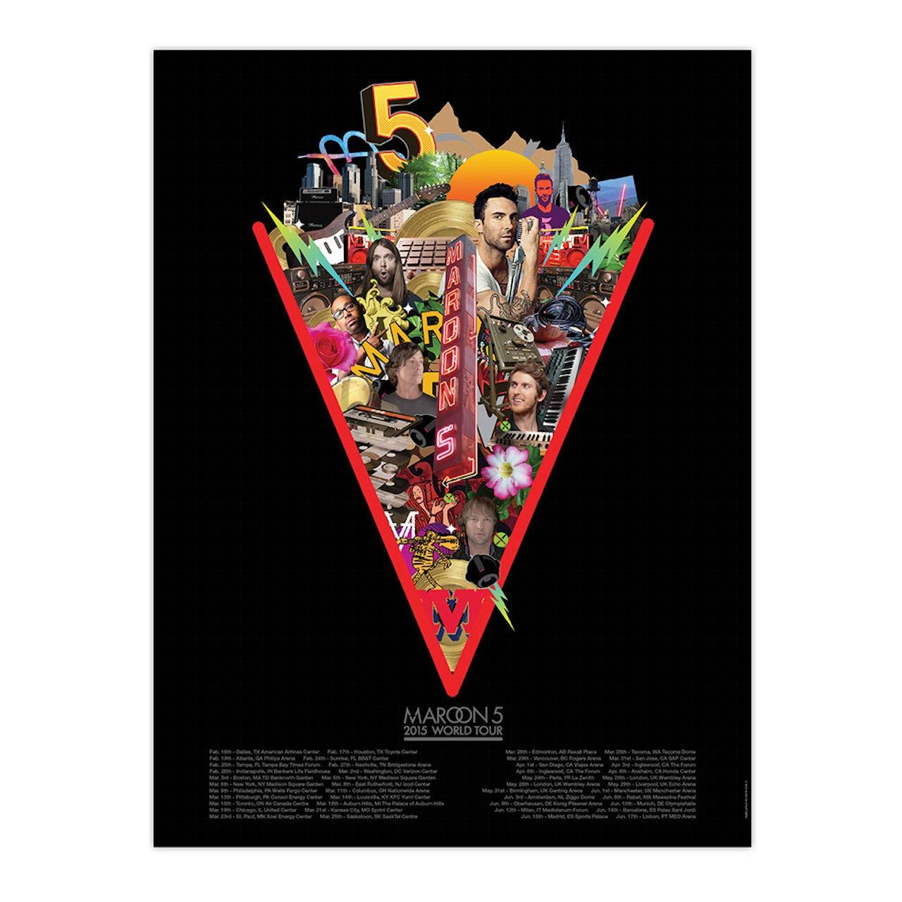 maroon 5 official maroon v tour poster. Black Bedroom Furniture Sets. Home Design Ideas