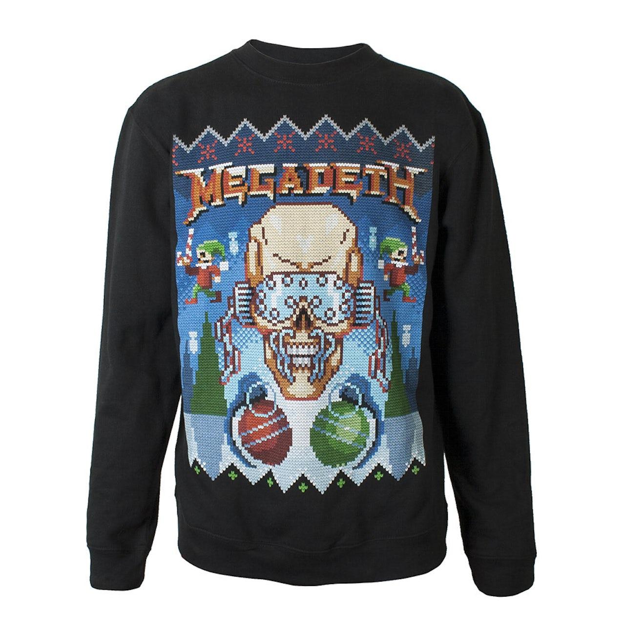 Black Sabbath Christmas Sweater.Ugly Megadeth Christmas Crewneck Sweatshirt