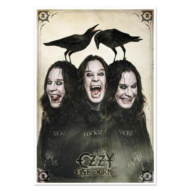 Ozzy Osbourne Collectible - Triple Ozzy Print - Limited Collector's Edition 1/2000*