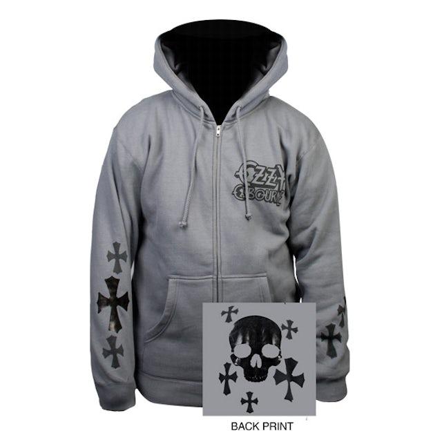 Ozzy Osbourne Foil Skull & Cross Ozzy Hoodie
