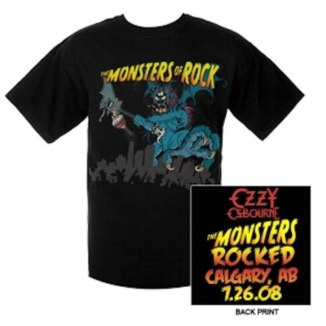 Ozzy Osbourne Monsters Of Rock Calgary Edition Tee