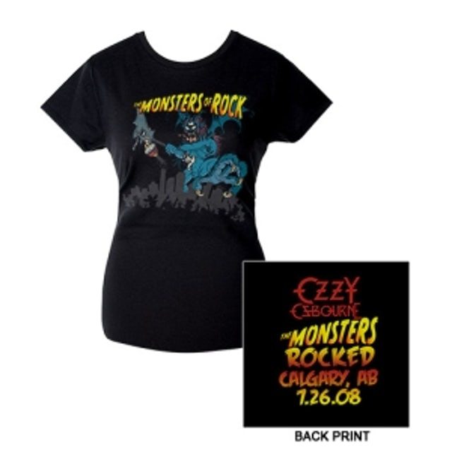Ozzy Osbourne Monstrers Of Rock 2008 Calgary Edition Jr. Tee