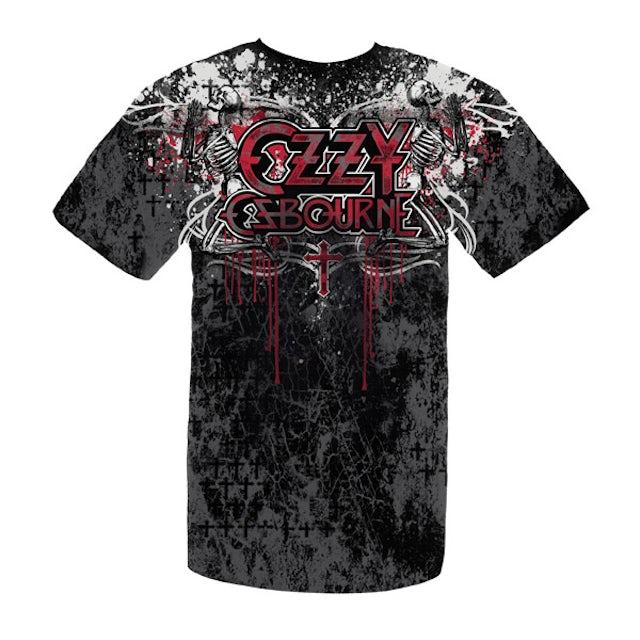 Ozzy Osbourne Praying Skeletons Ozzy Tee