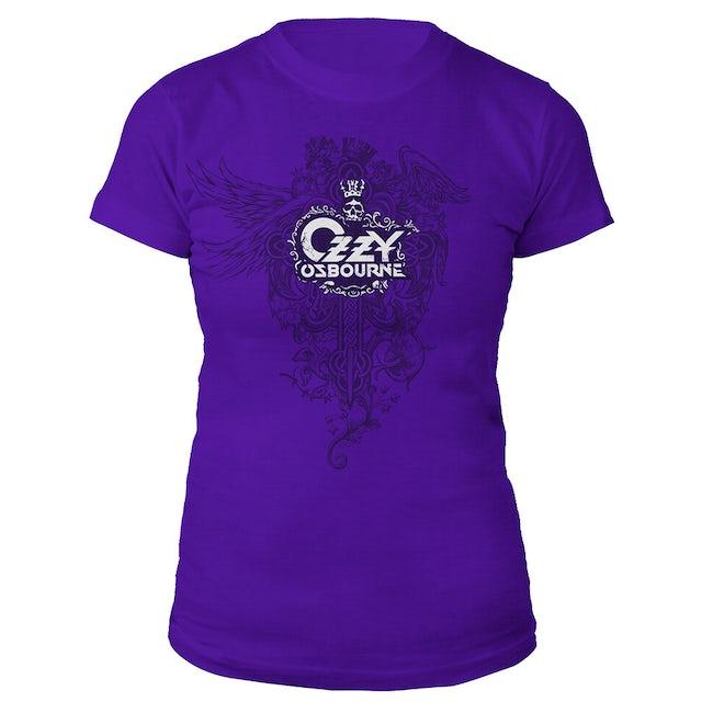Ozzy Osbourne Crowned Skull Ladies Tee