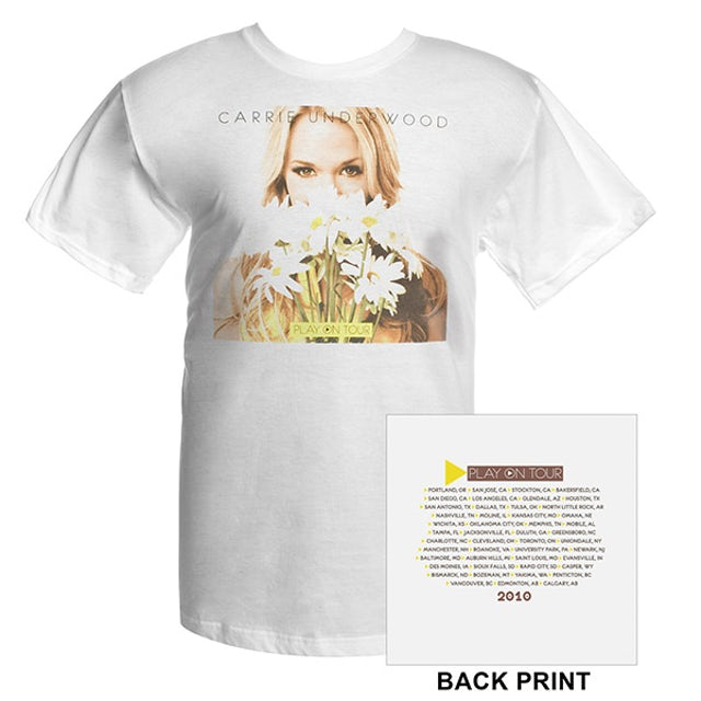 Carrie Underwood Official Play On Tour Daisy Photo Tee