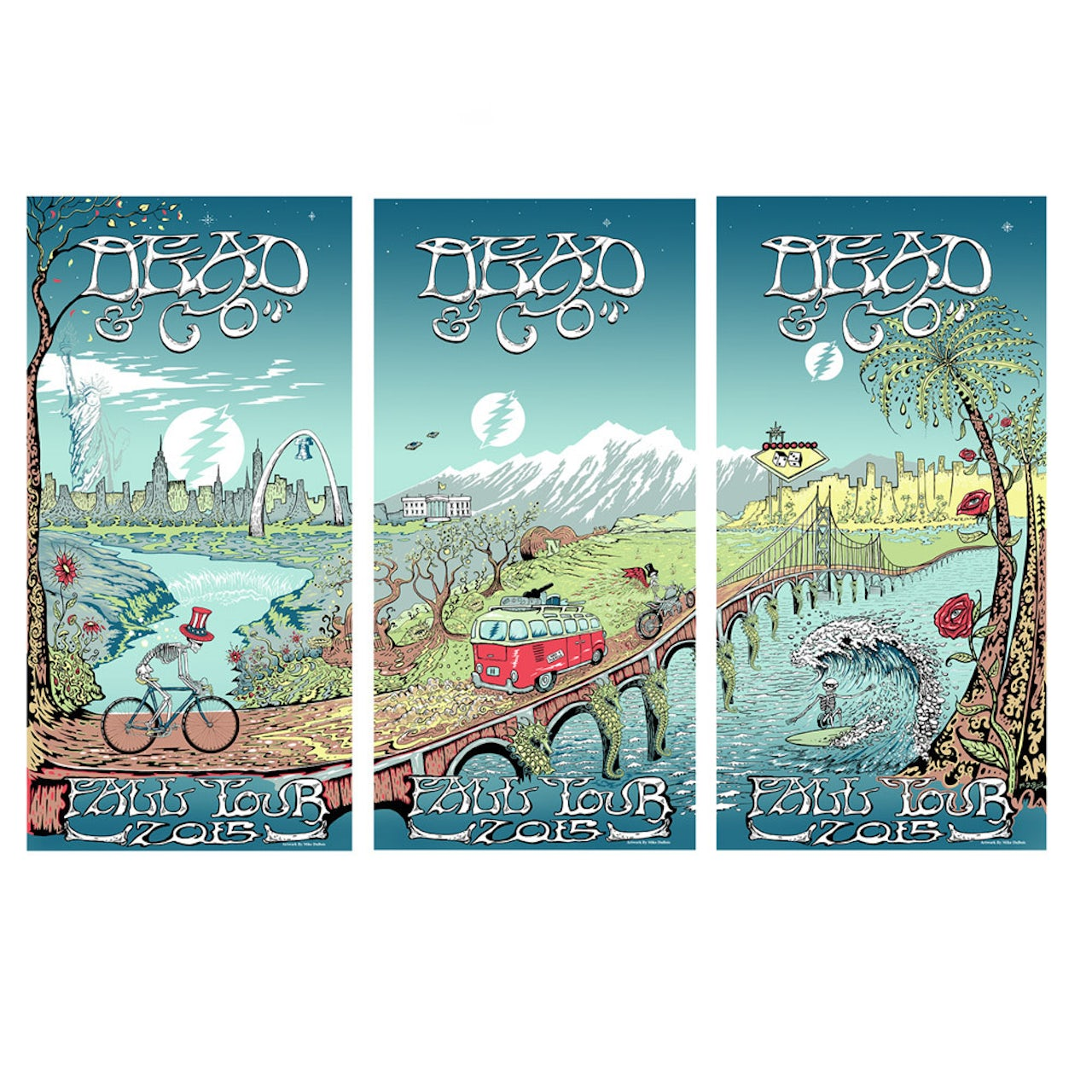 Limited Qty Available! Dead & Company Across America 2015 Poster