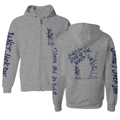 Janet Jackson State Of The World 2017 Tour Zip Hoodie