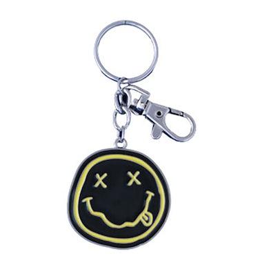 """Nirvana """"Smiley Face"""" Keychain"""