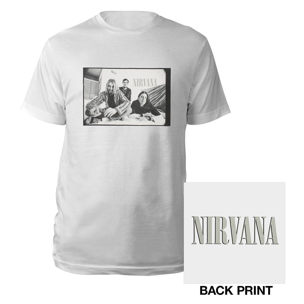 LED ZEPPELIN B/&W BAND GROUP PIC IMAGE WHITE T SHIRT NEW OFFICIAL MERCH