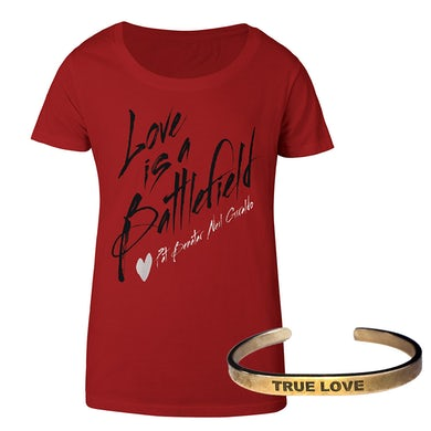Pat Benatar Ladies Battlefield Tee & True Love braceletWas:59.95