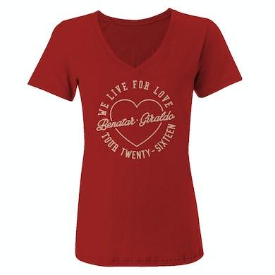 Pat Benatar We Live for Love ladies tee