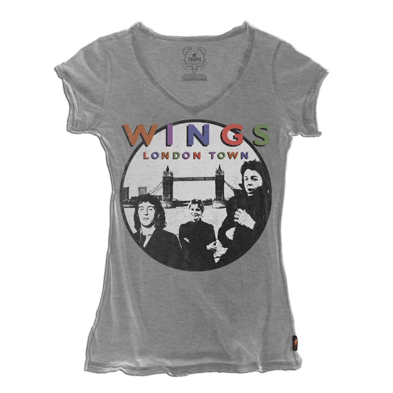 Paul McCartney Trunk Wings London Town V-Neck Tee