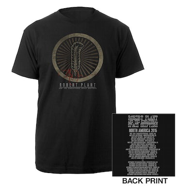Robert Plant Golden Feather Itinerary Tee