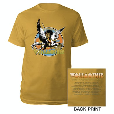 Wolfmother Pegasus Warrior US Itinerary Tee