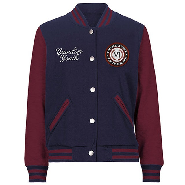 You Me At Six Laurel Leaf Navy/Maroon Varsity Jacket