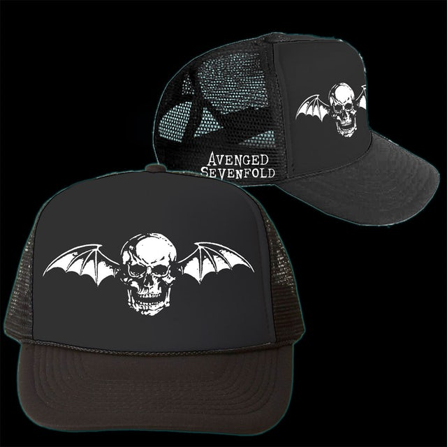 2ae1ce5f0b7d8 Avenged Sevenfold Deathbat Trucker Hat