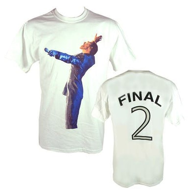 """George Michael GM Earls Court """"Final 2"""" Event White T-shirt"""