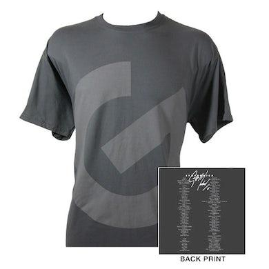 George Michael G Logo/Itinerary Charcoal T-shirt