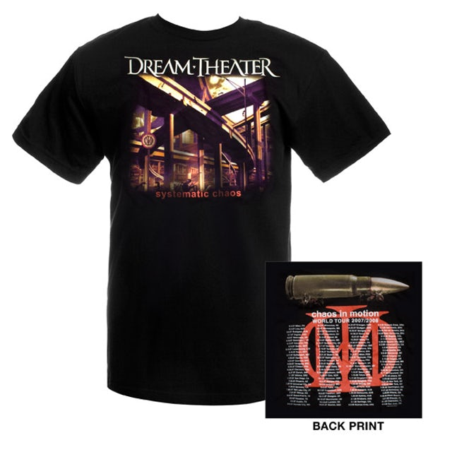 Dream Theater Systematic Chaos Event Tee