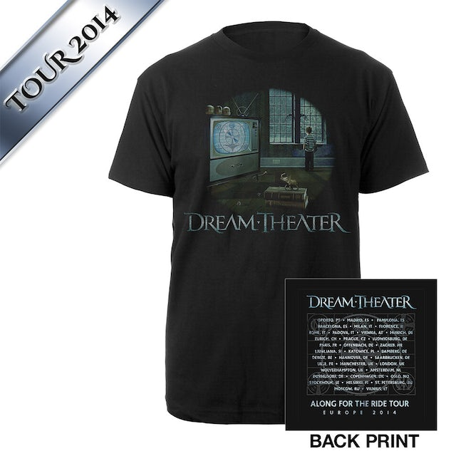 Dream Theater Looking Glass I Euro Tour Tee