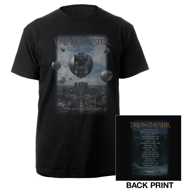 Dream Theater The Astonishing Album Cover 2016 Euro Tour Tee