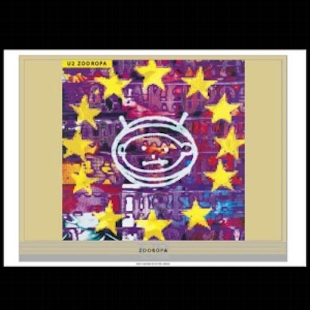 U2 Zooropa Album Lithograph