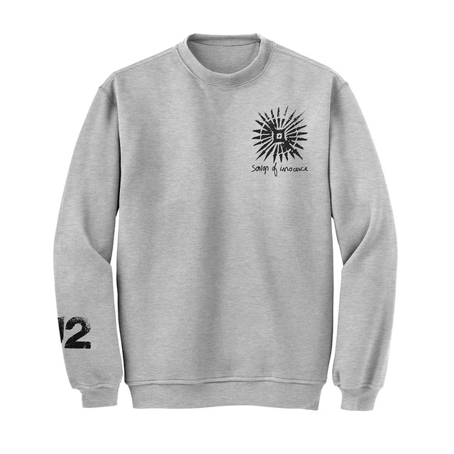 U2 Songs Of Innocence Pull Over Crew Sweatshirt (Grey)