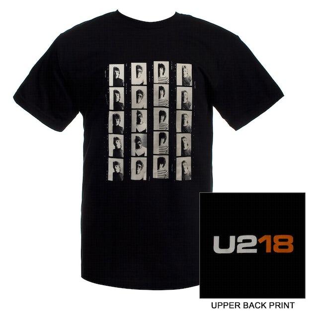 Mens Black 'U218' T-shirt