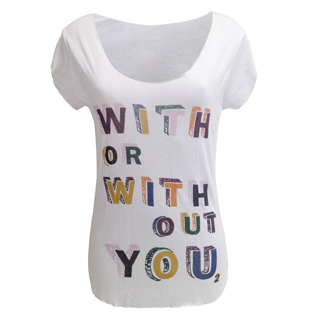 U2 'With Or Without You' T-Shirt