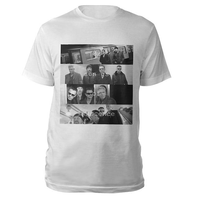 U2 Songs Of Innocence Multiple Photo T-shirt (White)