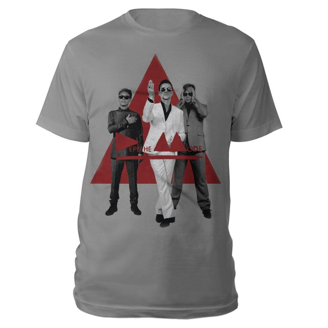 Depeche Mode B&W Photo On Red Triangle