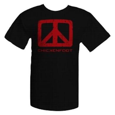 Chickenfoot Black Tee w/Red Logo Art