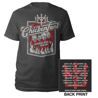 Chickenfoot Four Faces Tour Tee