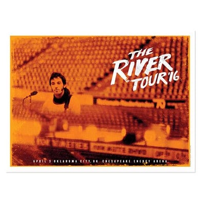 Bruce Springsteen The River Oklahoma City Event Poster