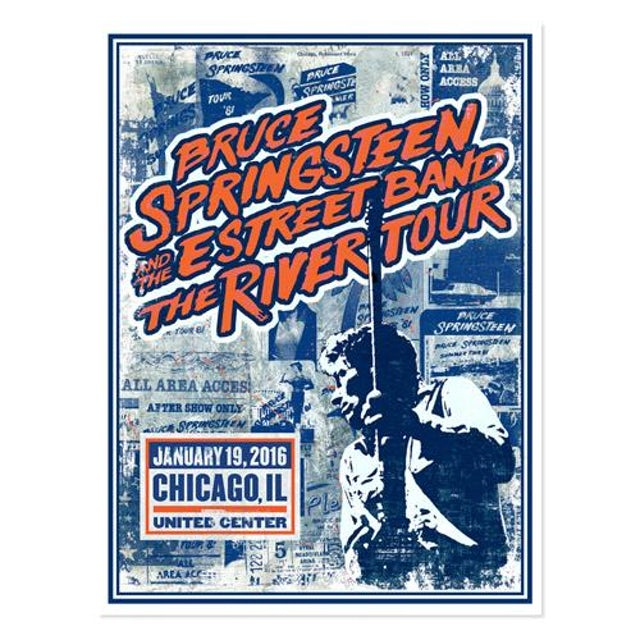 Bruce Springsteen The River Chicago Event Poster