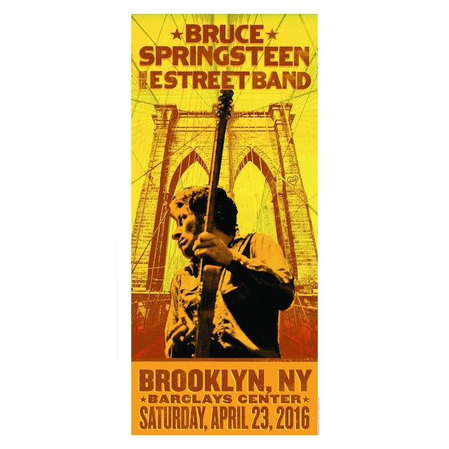 Bruce Springsteen The River Brooklyn Event Poster