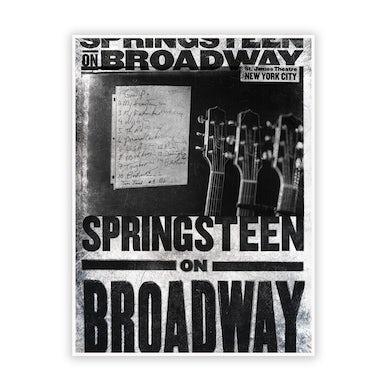 Bruce Springsteen Broadway 2021 Set List Poster