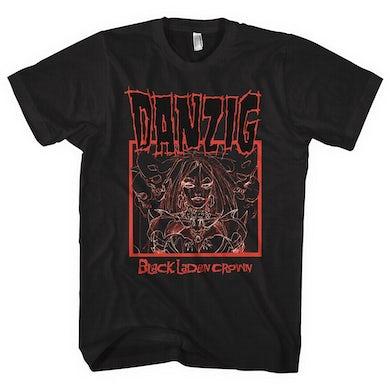 Danzig Black Laden Crown Tee