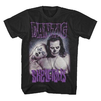 Danzig Tee: Black, Skeletons