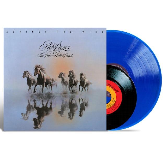 """Bob Seger Against The Wind 40th Anniversary Blue Vinyl 150 gram & 7"""" Single 120gram"""