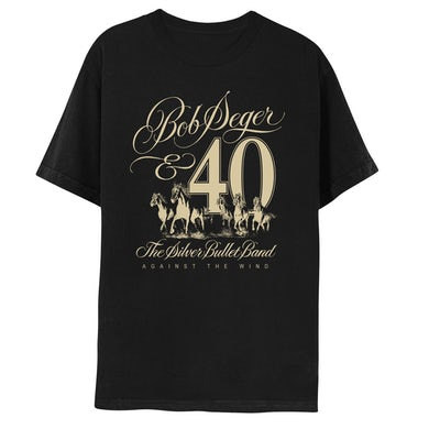 Bob Seger Against The Wind 40th Anniversary Short Sleeve Tee