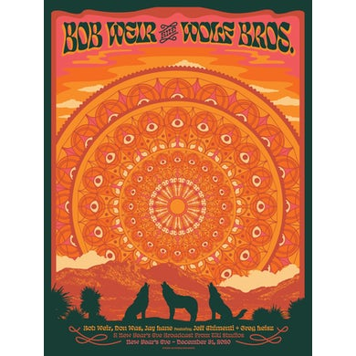 Bob Weir and Wolf Bros NYE Event Broadcast Poster