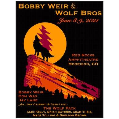Bob Weir Bobby Weir and Wolf Bros Red Rocks Event Print